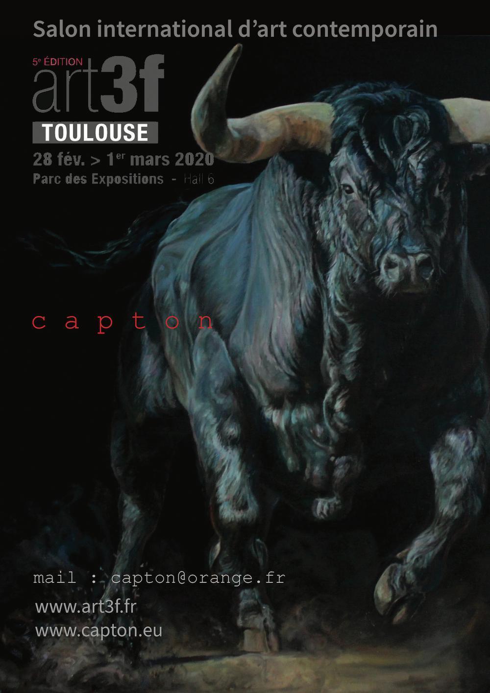 Artiste Peintre Contemporain Toulouse exposition capton expose au salon art3f de toulouse