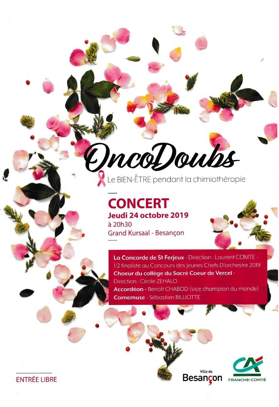 Concert Octobre Rose à Besancon jeudi 24 octobre 2019