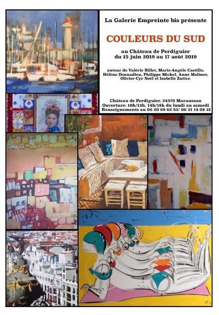 exposition couleurs du sud maraussan du 15 juin au 17. Black Bedroom Furniture Sets. Home Design Ideas