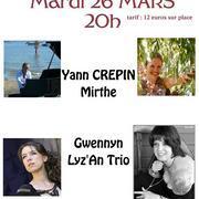 Concert Lyz'an Trio, Yann Crepin, Gwennyn et Mirthe