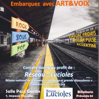 Soirée Pop, Soul et Rock au profit de l'association Réseau-Lucioles