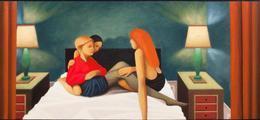 Exposition de peinture: des images des figures, Paolo Perfranceschi