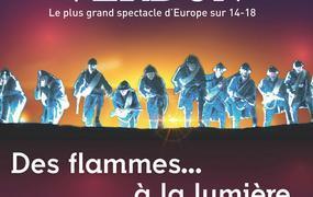 Spectacle Des Flammes A La Lumiere