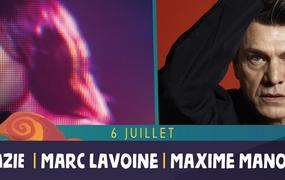 Concert Zazie, Marc Lavoine et Maxime Manot'
