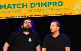 Spectacle Match d'Impro : Full Metal Poet vs Une Équipe de Ping-Pong