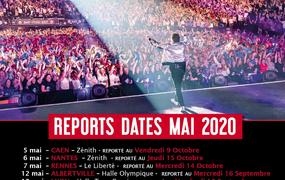 Concert Patrick Bruel Tour 2020 date initialement prévue en mai