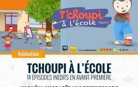 Spectacle T'Choupi à l'école à Rivesaltes du 23 août