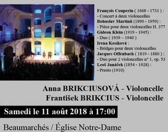 3ème bach festival gers 2018 - deux violoncelles – impressions françaises et tchèques