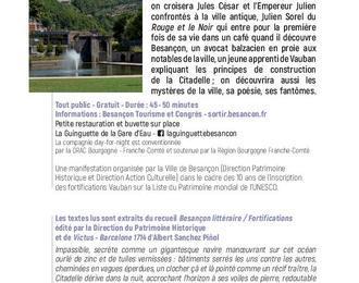 Besançon Littéraire - Autour des Fortifications, lectures à deux voix