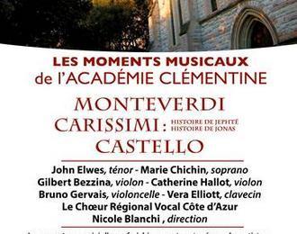 Carissmi. Monterverdi. Castello. Concert du clôture du Festival de cinéma italien