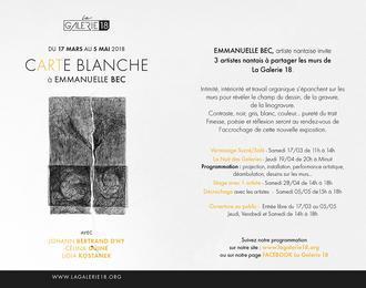 Carte blanche à Emmanuelle Bec