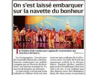 Comédie musicale Marseillaise
