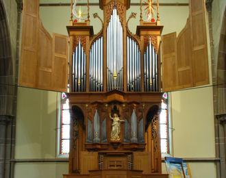 Concert d'orgue à l'église de Sarralbe (Lorraine)