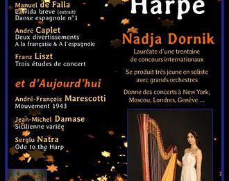 Concert de Harpe   par la jeune Virtuose Nadja Dornikn - Lauréate de 30 concours internationaux