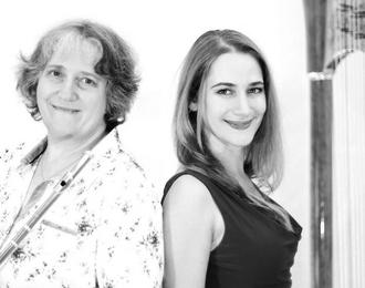 Concert en duo flûte et harpe Ensemble Traversées