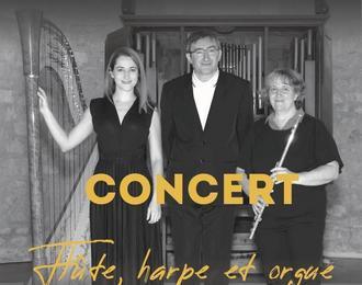 Concert en trio flûte, harpe et orgue