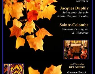 Concert rare : Duo de Violes de Gambes
