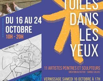 Exposition d'art contemporain Les Toiles Dans Les Yeux
