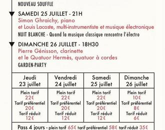 Festival Debussy 2020 - Pass 1 Jour