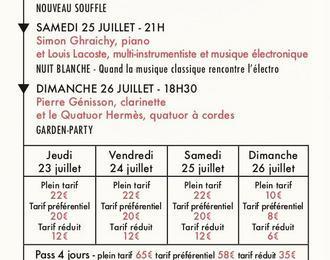 Festival Debussy - Pass 4 Jours