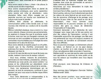 Festival MéditerranéO' de Portet-sur-Garonne 2020
