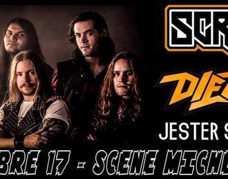 Heavy metal night avec Screamer * Diemond * Jester Smokebreak