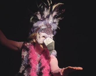 La grande Lili Flamingo à la Maison pour tous Fanfonne Guillierme à Montpellier