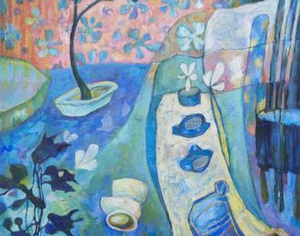 « Mondes éthériques », peintures de Christine Garuet