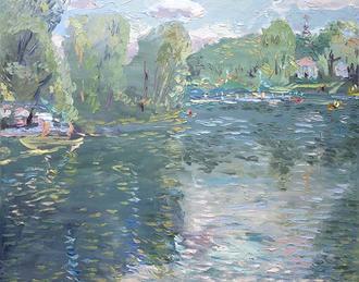 """Les Artistes Du Souvenir De Corot, """"sérénité"""""""