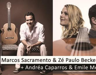 Marcos Sacramento  & Ze Paulo Becker Et Andrea Caparros Et Emile Melenchon