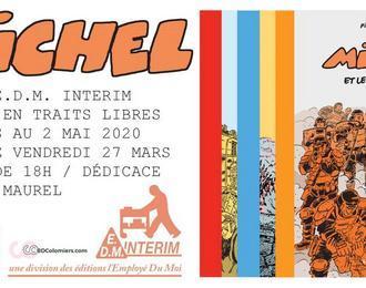 Michel, une expo E.D.M Intérim / Dédicace de Pierre Maurel