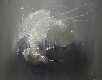 Performance du peintre Arnaud Provost