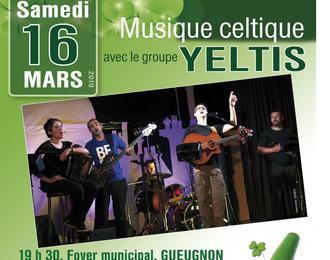Soirée irlandaise avec le groupe Yeltis