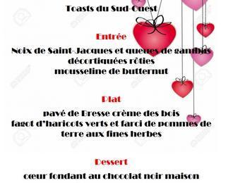 Soirée spéciale Saint Valentin :