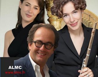 Trio Anaïs Gaudemard Harpe, Juliette Hurel Flûte, Miguel Da Silva Alto