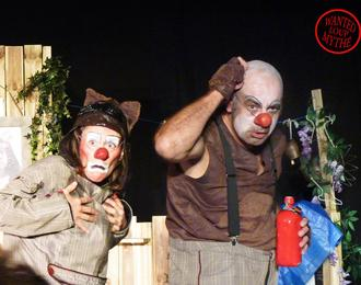 Wanted loup mythé en duo de clowns