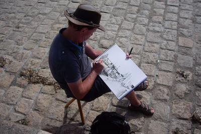 Dessins peinture de Noirmoutier et de Bretagne à Barbatre
