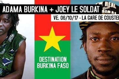 Adama Burkina + Joey Le Soldat (world / hip-hop) à Maubec