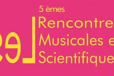 4èmes Rencontres Musicales et Scientifiques 2019
