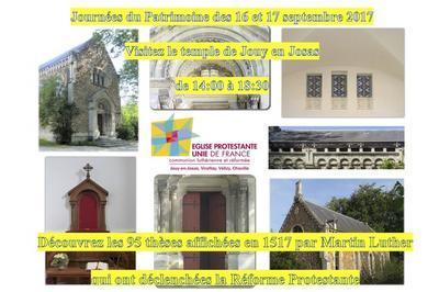 À L'occasion Des 500 Ans Des 95 Thèses De Luther, Visite Commentée Du Temple De Jouy En Josas à Jouy en Josas