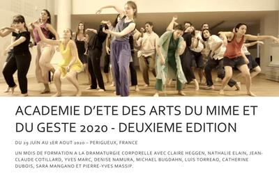 Académie d'été des Arts du Mime et du Geste - 2e édition à Perigueux