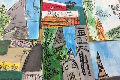 Accrochage « La Classe, L'oeuvre : Débordant De Couleurs » à Quimper