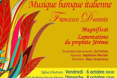 Concerts de musique baroque italienne : Durante, Palestrina, Monteverdi, Scarlatti ... à Autrans