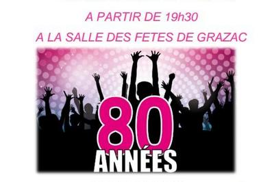 Repas dansant Année 80 à Grazac 81
