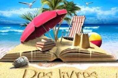 Des livres sur la plage à Cavalaire sur Mer