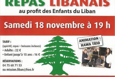 Repas Libanais avec chants Variétés et Lyriques à Saint Martin d'Aout