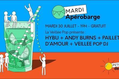 Apérobarge : Andy Burns, Hybu, Paillettes D'amour à Paris 13ème