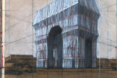 Arc De Triomphe, Wrapped Par Christo Et Jeanne-claude à Paris 8ème