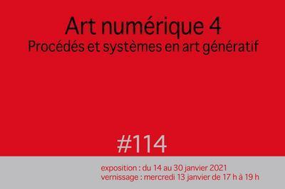 Art numérique 4 / Procédés et systèmes en art génératif à Paris 11ème