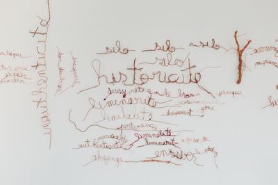Atelier Autonome Nuage De Mots, Inspiré De L'oeuvre Langues Secouées De Myriam Mihindou à Bourges